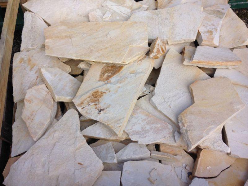Cuarcita blanco alpe irregular