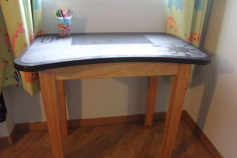 Mesa de pizarra negra